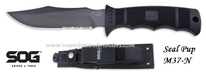 SOG M37N Seal Pup AUS8 w/Nylon Sheath