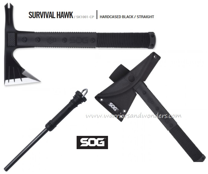 SOG SK1001 Survival Hawk w/Nylon Sheath