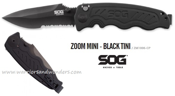 SOG ZM1006 Zoom Mini Black TiNi Assisted Opening (Online Only)