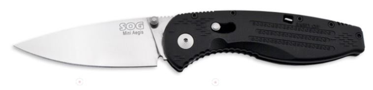 SOG AE21 Aegis Mini Plain Edge Assisted Opening (Online Only)