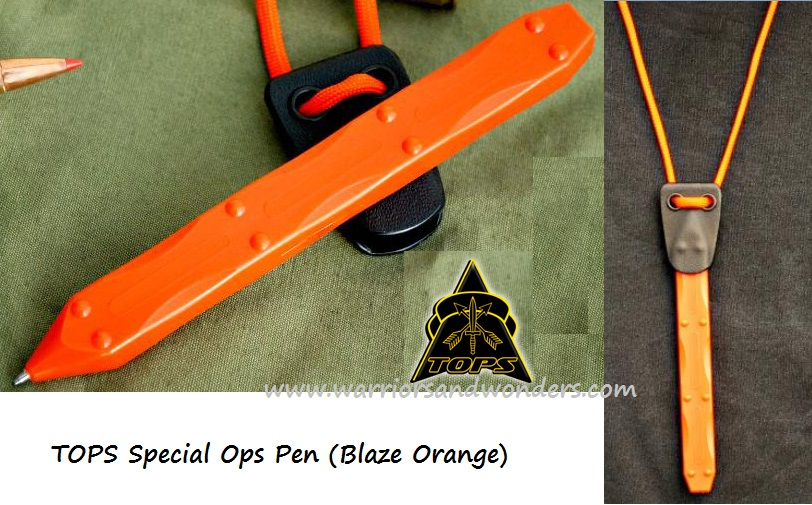 TOPS SOPR3ONG S.O.P.R. Blaze Orange Special Ops Pen