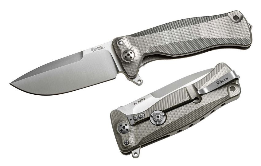Lion Steel SR11 G Grey Titanium Flipper