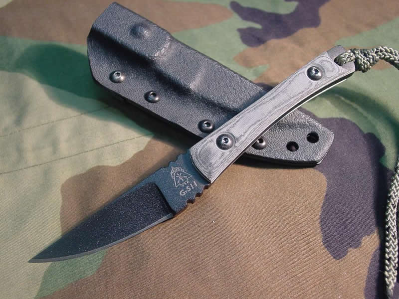 TOPS SSS07 Scalpel Micarta w/ Kydex Sheath