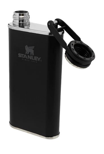 Stanley Classic Easy Fill Wide Mouth Flash 8oz- Matte Black
