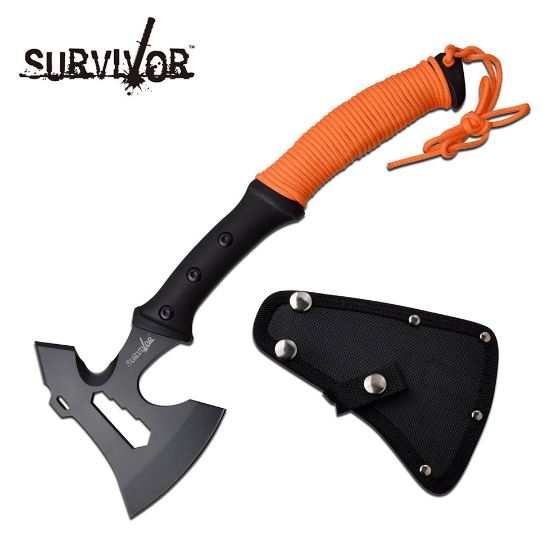 MC Survivor Axe Orange w/ Nylon Sheath SVAXE001OR (Online Only)