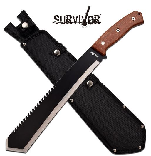 Master Survivor SVMHT002W Machete w/Sheath