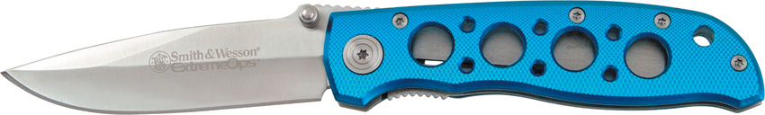 Smith & Wesson 105BL ExtremeOps Linerlock - Blue (Online Only)
