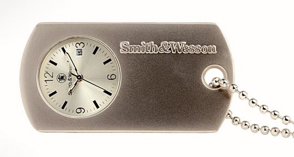 Smith & Wesson W1564SLV Dog Tag Neck Watch - Silver