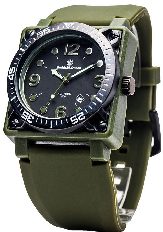 Smith & Wesson W5800OD Altitude Watch - OD Green