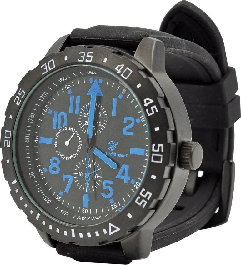 Smith & Wesson W877BL Calibrator Watch - Blue