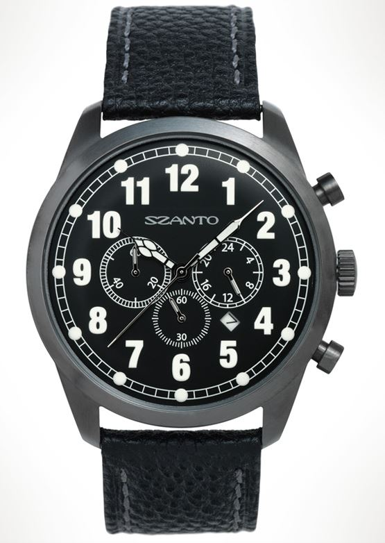 Szanto 2001 Chronograph - Plated Gunmetal Grey