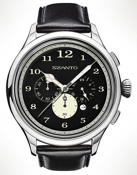 Szanto 2401 Officer's Chronograph - Black Dial