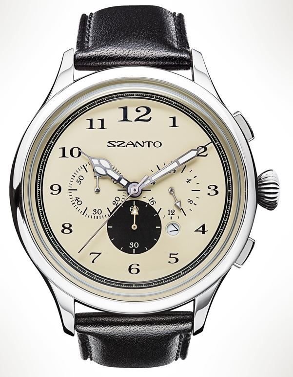 Szanto 2402 Officer's Chronograph - Cream Dial