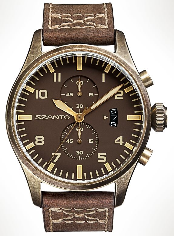 Szanto 4003 Distressed Bronze Finish - Brown Dial