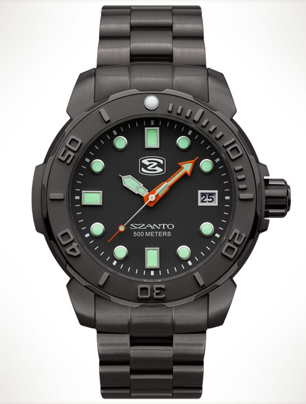 Szanto 5122 Dive Series Steel Bracelet - Black