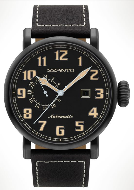 Szanto 6101 Big Aviator Automatic - Black