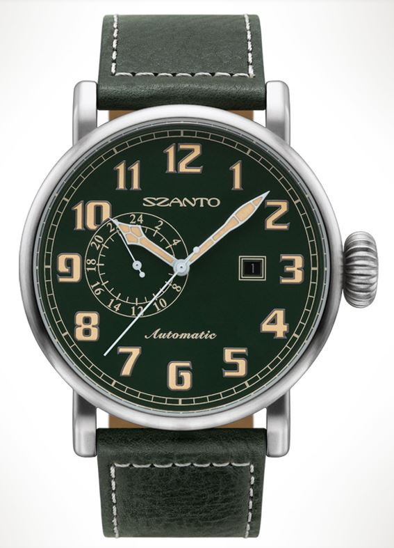 Szanto 6104 Big Aviator Automatic - Green