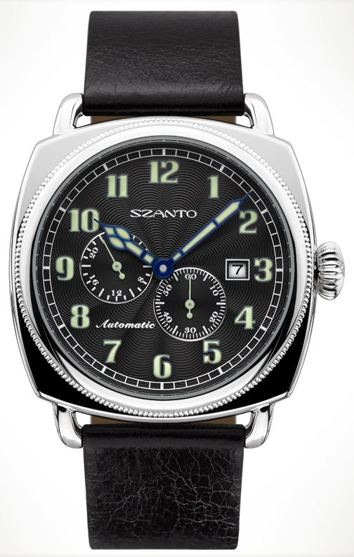 Szanto 6201 Officer's Coin Cushion Automatic - Black