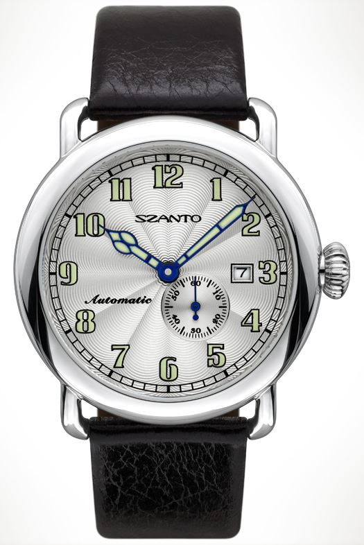 Szanto 6303 Officer's Round Automatic - Black and Silver