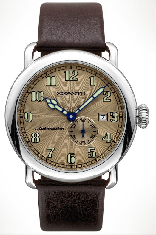 Szanto 6304 Officer's Round Automatic - Brown