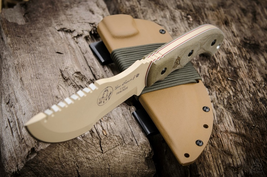 TOPS TBT01TAN Tom Brown Tracker w/ Tan Kydex Sheath