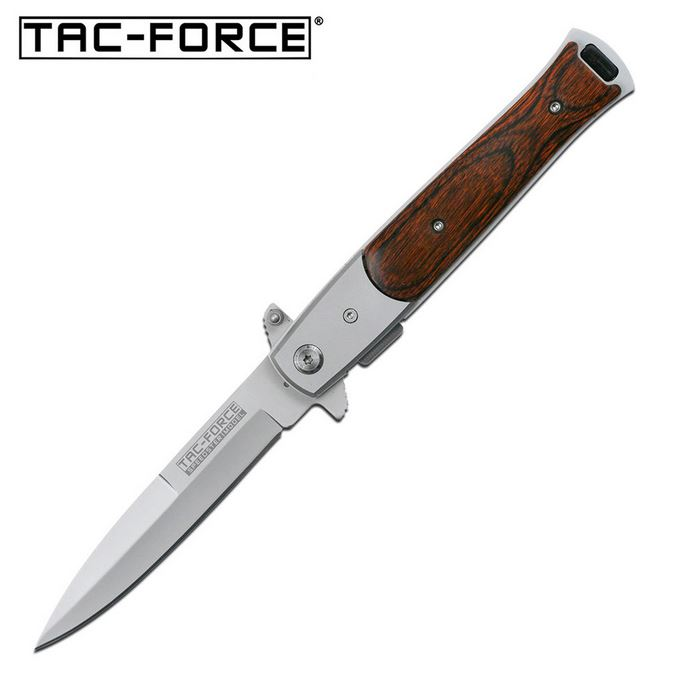"Tac Force TF428W Satin 3.5"" Blade Pakkawood Handle (Online Only)"