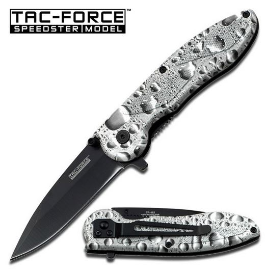 Tac Force TF463WS Silver Raindrops Assisted Open (Online Only)