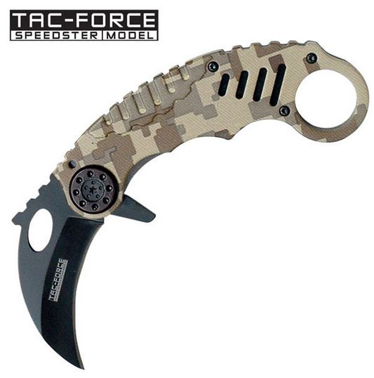 Tac Force TF620DM Desert Camo Folding Karambit (Online Only)