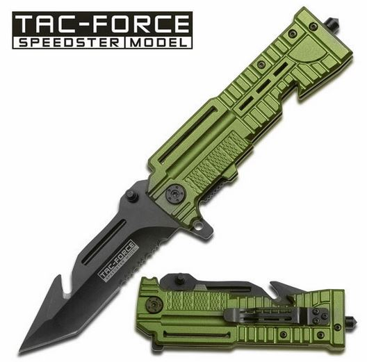 Tac Force TF713GN Green Gut Hook Folder (Online Only)