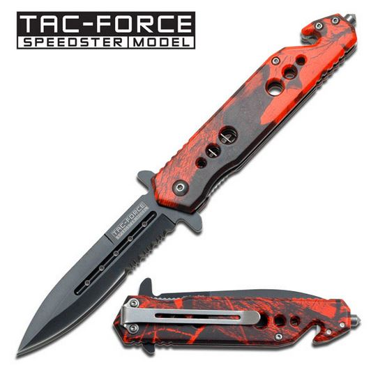 Tac Force 716RC Red Camo Folder Assisted Open (Online Only)