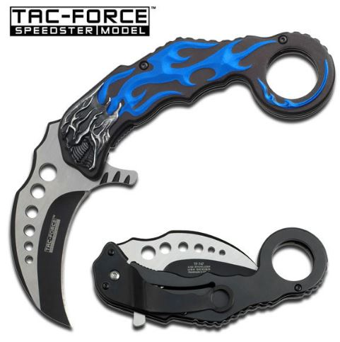 Tac Force TF747BL Folding Karambit, Assisted Opening (Online)