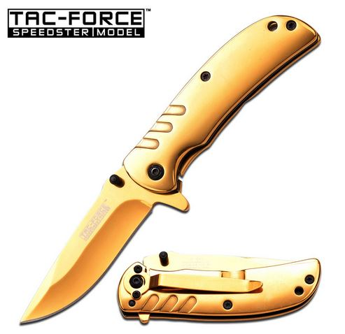 Tac Force 847GD Gold Ti-Coat Framelock (Online Only)
