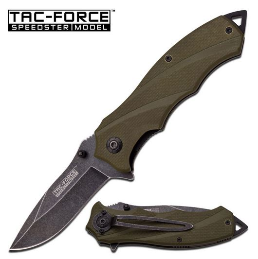 Tac Force TF849GN Army Green G-10 Assisted Open (Online Only)