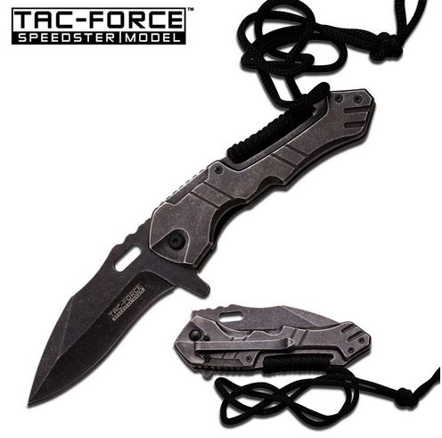 Tac Force 868 Stonewash Stainless Steel Assisted (Online Only)