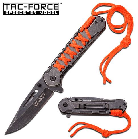 Tac Force 872OR Laced-Up Assisted Open -Orange (Online Only)