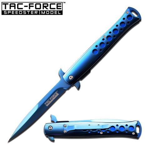 Tac Force 884BL Blue-Ti Assisted Open Stiletto (Online Only)