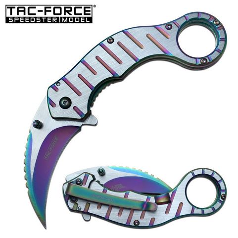 Tac Force TF952RB Assisted Karambit Rainbow (Online Only)