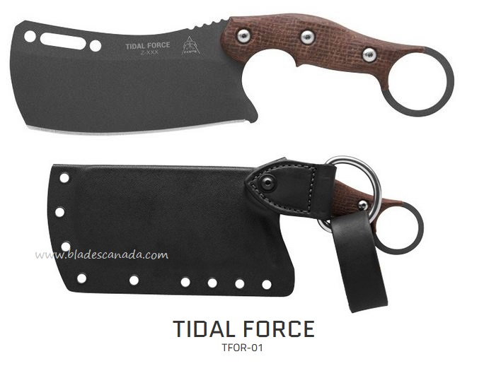TOPS Tidal Force, 1095 Steel, Micarta Handle, TFOR01