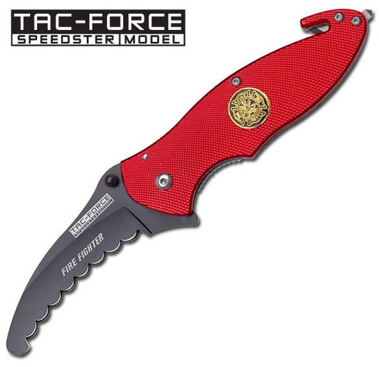 Tac Force YC565FD Fire Red w/ Round Serrations (Online Only)