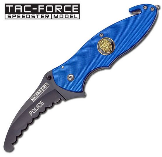 Tac Force YC565FD Police Blue w/ Round Serrations (Online Only)
