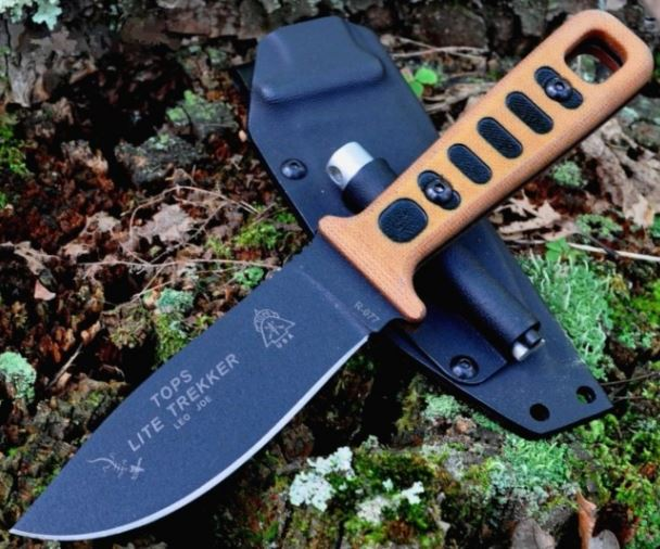 TOPS TLT01TAN Lite Trekker Tan W/ Kydex Sheath