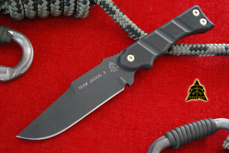 TOPS TMJK01 Team Jackal 5 w/Kydex Sheath