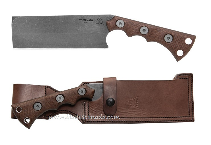 Tops TNAT-01 Nata Tool w/ Leather Sheath