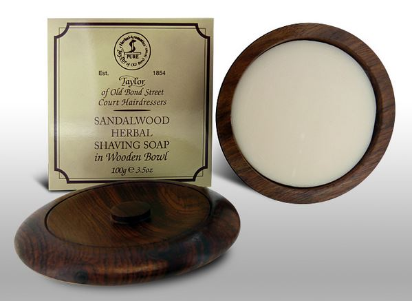 Taylor of Old Bond Street Shave Soap w/ Wood Bowl - Sandalwood