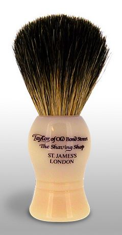Taylor of Old Bond Street Pure Badger Brush - Faux Ivory