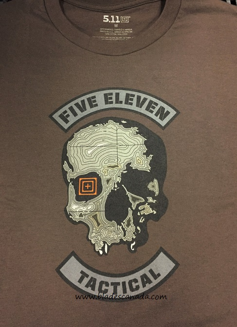 5.11 Topo Skull T-Shirt - Chocolate Brown [Size XL]