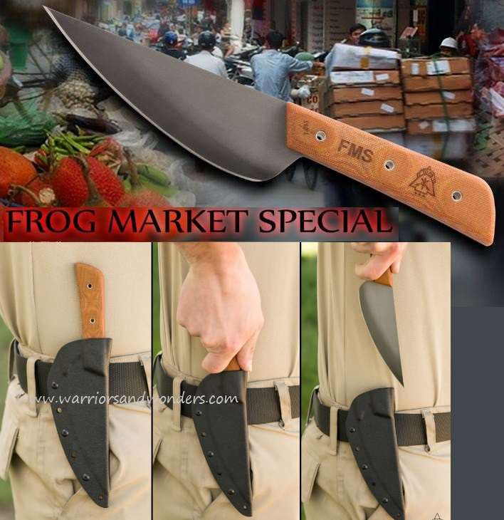 TOPS FMS-05 Frog Market Special w/Kydex Sheath