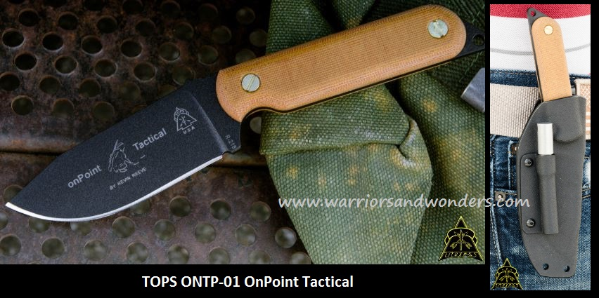 TOPS ONPT01 OnPoint Tactical w/Kydex Sheath
