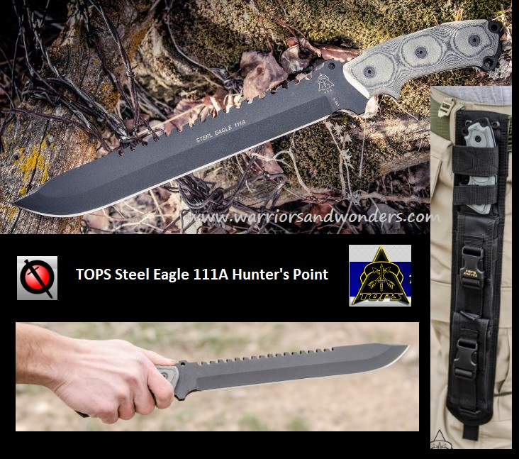 TOPS SE111AHP Steel Eagle Hunter's Point, Ballistic Nylon Sheath