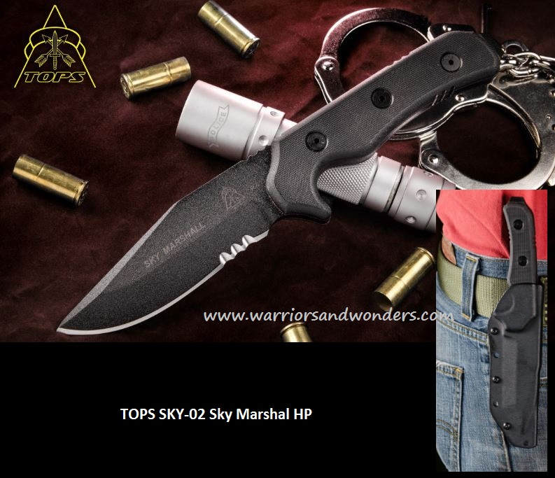 TOPS SKY02 Sky Marshall HP w/Kydex Sheath (Online Only)